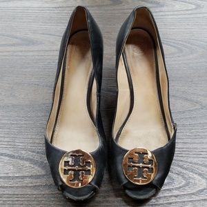 Tory Burch Kara wedge shoe heel size 10